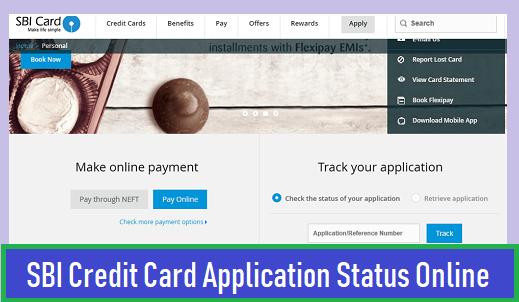 SBI Credit Card Application Status Online